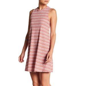 Sleeveless Stripe Shift Dress